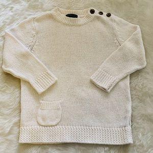 Ralph Lauren Crewneck Button Shoulder Sweater